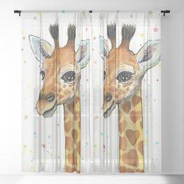 Baby Giraffe Sheer Curtain