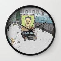 "korea Wall Clocks featuring ""Magic Kingdom"" (North Korea) by correia creative"