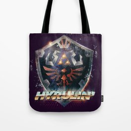 Yeah she sees my Hyrulin' - 80's Legend of Zelda Shield Tote Bag
