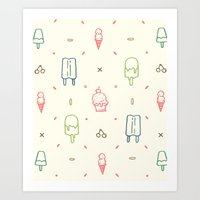 We all scream for Ice Cream! Art Print