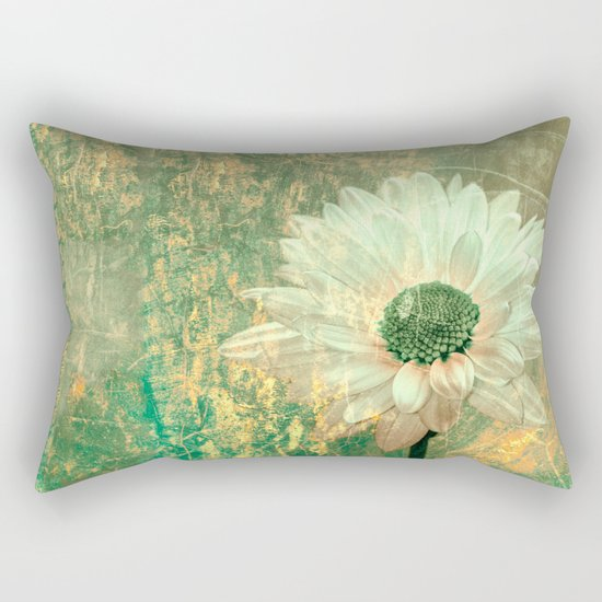 Abstract Daisy Rectangular Pillow