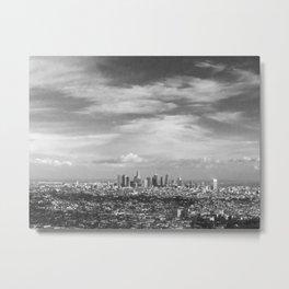 Los Angeles Black and White Metal Print