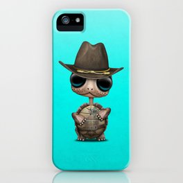 Cute Baby Turtle Sheriff iPhone Case