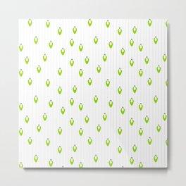 Green Lights on Snow Metal Print