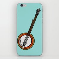 banjo iPhone & iPod Skins featuring Banjo by Illustrated by Jenny