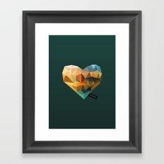 Vector Love 03 Framed Art Print