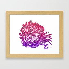 cheeks and roses Framed Art Print
