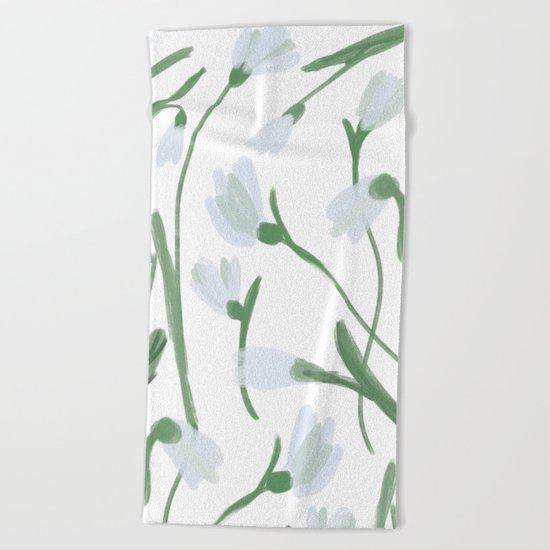 Snowdrops Beach Towel