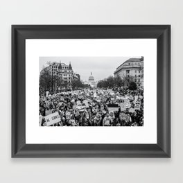 Women's March on Washington Framed Art Print