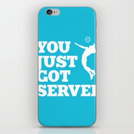 You just got served iPhone Skin