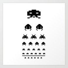 Gamers eye test Art Print