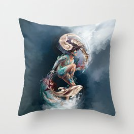 Sedna: Inuit Goddess of the Sea Throw Pillow