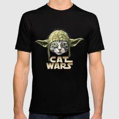 Cat Wars Mens Fitted Tee MEDIUM Black