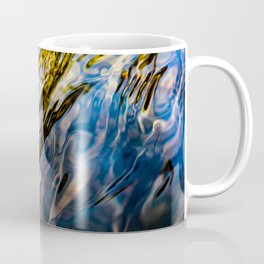 River Ripples in Copper Gold Blue and Brown Coffee Mug