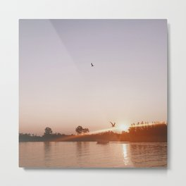 Sunset on the Channel Metal Print