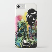 biggie smalls iPhone & iPod Cases featuring Biggie Smalls Spray Paint Illustration by ConorMcClure