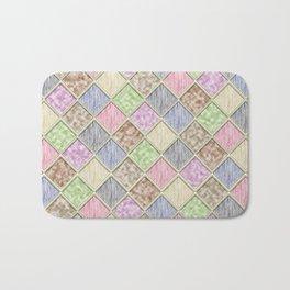 Colorful Seamless Rectangular Geometric Pattern IV Bath Mat