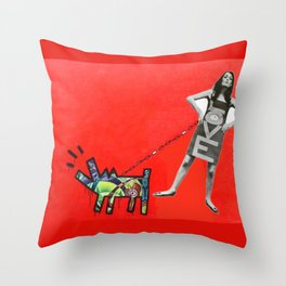 Pied Piper Dog Massage Throw Pillow