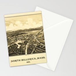 Aerial View of North Billerica, Massachusetts (1887) Stationery Cards