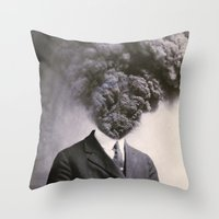 power Throw Pillows featuring Outburst by J U M P S I C K ▼▲