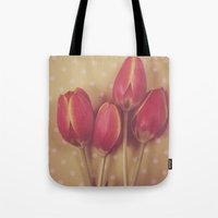 antique Tote Bags featuring Antique Tulips by Jessica Torres Photography
