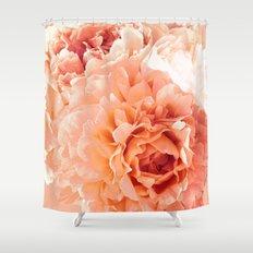 Peach Pink Peony Bunch Shower Curtain