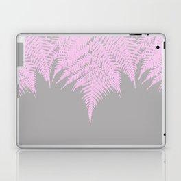 Fern Pink on Grey Laptop & iPad Skin