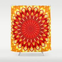 be happy Shower Curtains featuring HAPPY by Teresa Chipperfield Studios