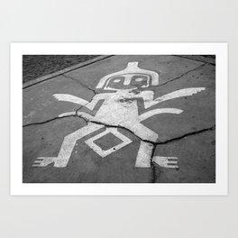 Sidewalk art Art Print