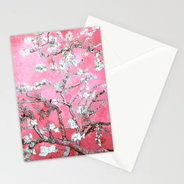 Van Gogh Almond Blossoms : Pink & Aqua Stationery Cards
