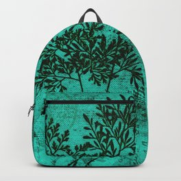 Botanical Turquoise Backpack