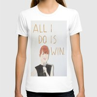 emma stone T-shirts featuring All I do is win, Emma stone  by Thespanishlady