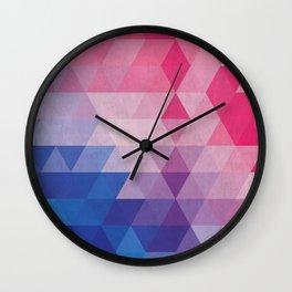Minimalist blue and pink degrade Wall Clock