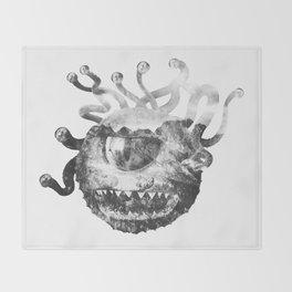 Beholder (Black & White) Throw Blanket