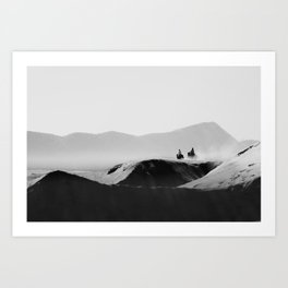 Two Riders Art Print