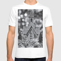 Winter Wonderland Mens Fitted Tee White MEDIUM