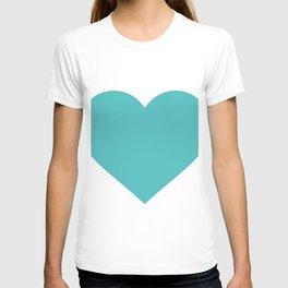 Heart (Teal & White) T-shirt
