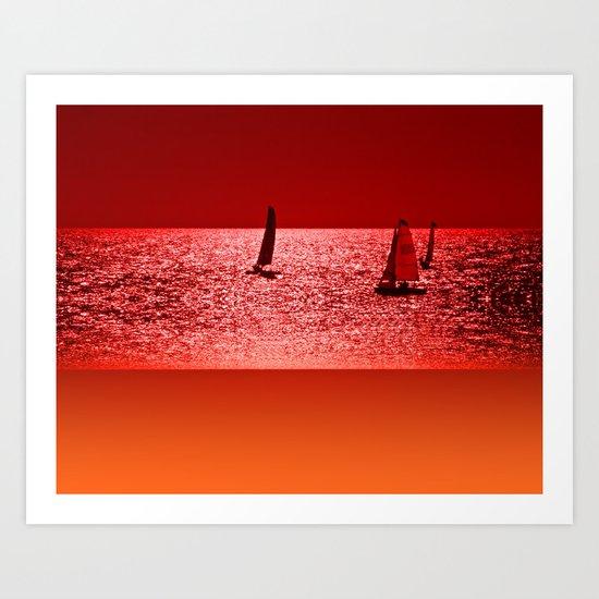 Autumn Ocean 2 Art Print