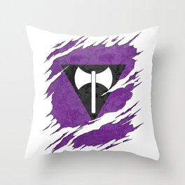 Lesbian Labrys Pride Flag Ripped Reveal Throw Pillow