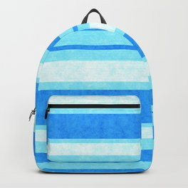 Bright Blue Grunge Stripes Texture Backpack