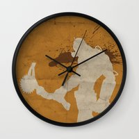 borderlands Wall Clocks featuring Borderlands 2 - Salt the Wound by Art of Peach