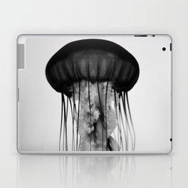 Jellyfish Black and White Laptop & iPad Skin