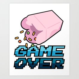 Game Over, Man! Art Print