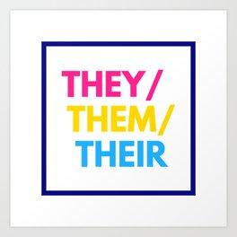 Pansexual Nonbinary Pride Art Print