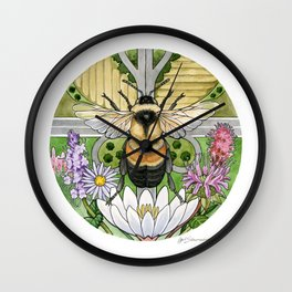 On the Brink: Rusty Patched Bumblebee Wall Clock
