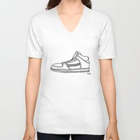 sneaker V-neck T-shirts featuring Sneaker by YTRKMR