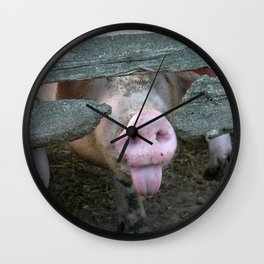 Naughty Pig | Freches Schwein Wall Clock