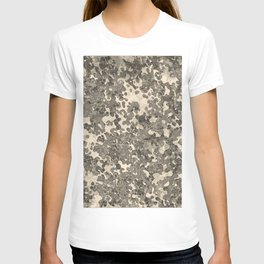 Champagne Brown Hybrid Camo Pattern T-shirt