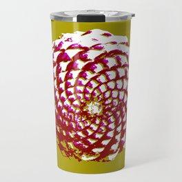 pine cone in olive green, purple and burgandy Travel Mug