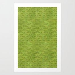 Palm Traffic! (Olive Green) Art Print